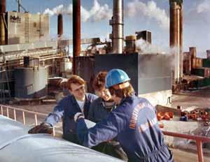 Historisk bild från Sunds Industrier